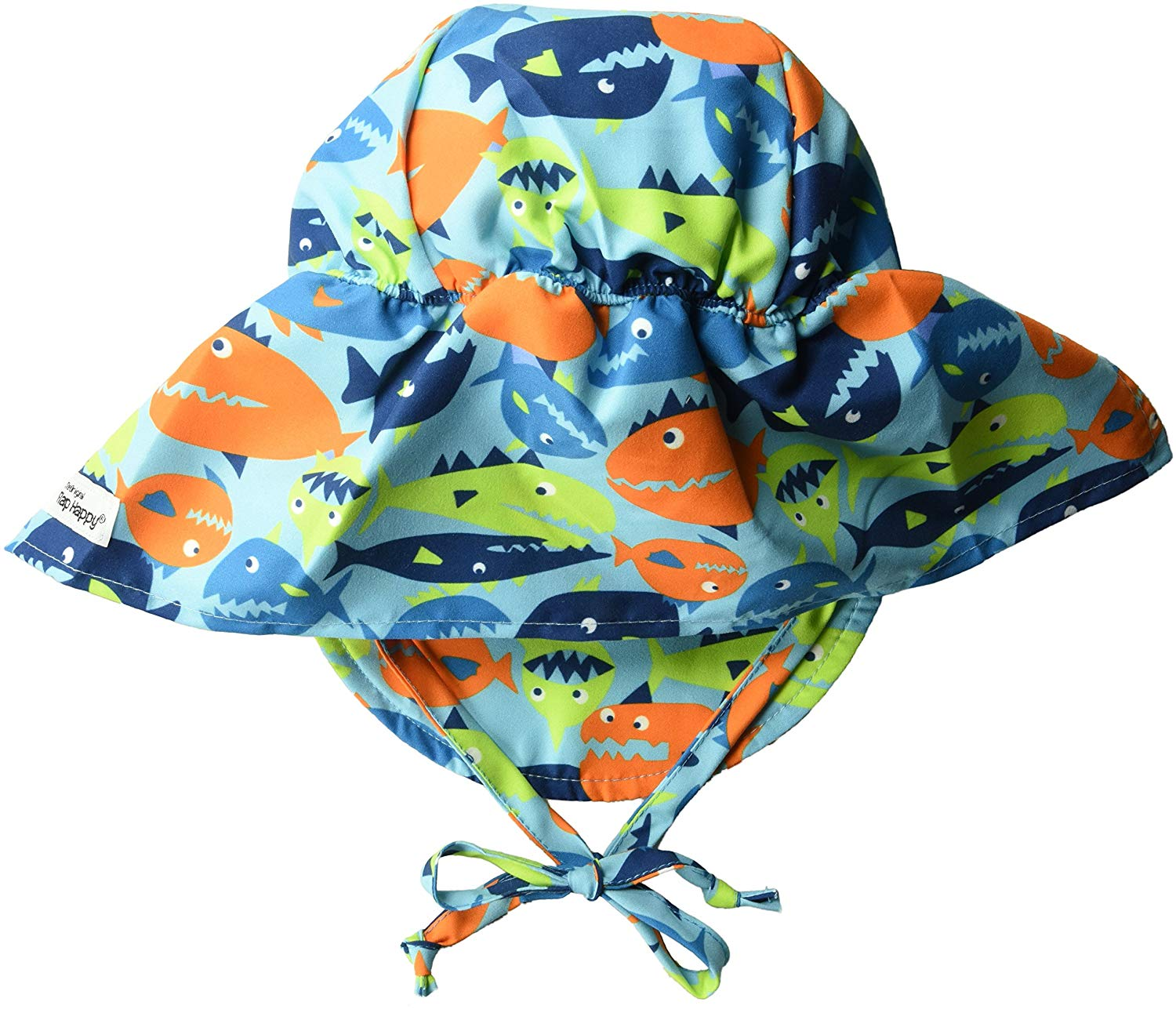 Flap Happy Baby Boys UPF 50+ The Original Hat with Ties,