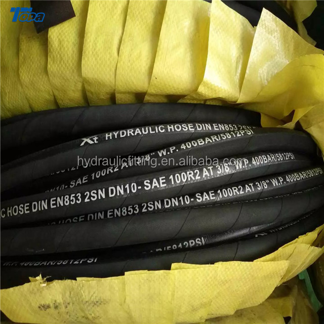 R2AT/2SN braided air fuel stainless steel flexible Hydraulic Hose