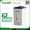 Bluesun 2 volt lead acid battery vrla 2v 500ah agm battery solar system battery