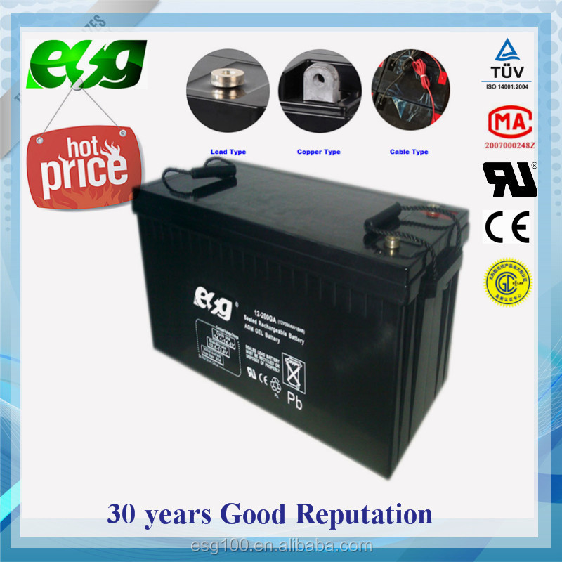 Deep cycle VRLA type 12 volt lead acid battery 12v 200ah solar batteries