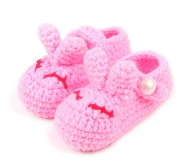1Pair Lovely soft baby boys girls cartoon 3D rabbit colors handwork toddler shoes children s crib