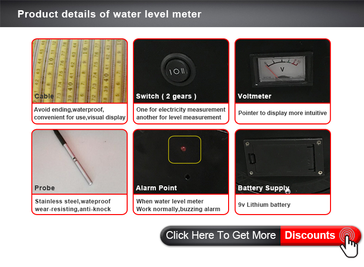HLM 50M Under ground well /Agricutural Irrigation/boreholes  Water level Meter