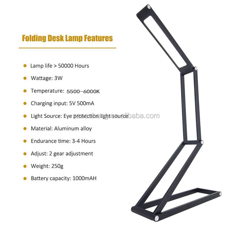 Гибкая Usb Led Настольная лампа Светодиодная настольная лампа для работы/складной офисный свет для чтения книг