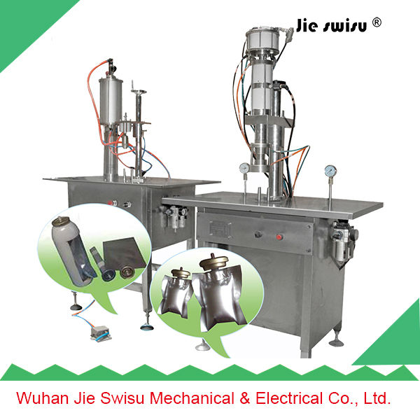 BOV Aerosol Filling Machine, Bag-On-Valve For Aerosol Products