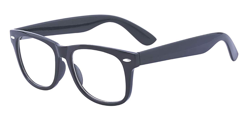 15c8b4c8698 Get Quotations · ALWAYSUV Black Square Full Frame Nearsighted Myopia  Shortsighted Glasses For Women Men