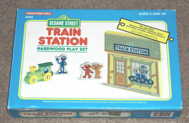 Sesame Street Train Station Hardwood Play Set #4525