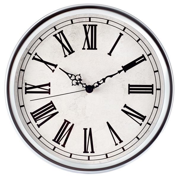 Estilo europeo cromado n meros romanos reloj reloj de - Reloj de pared diseno ...