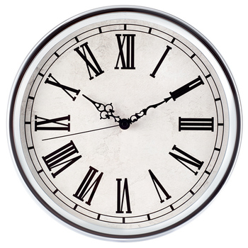 European Style Roman Numerals Chrome Plating Clock Iron