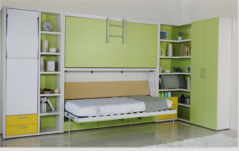 Double Decker Hidden Wall Bed Bunk Bed