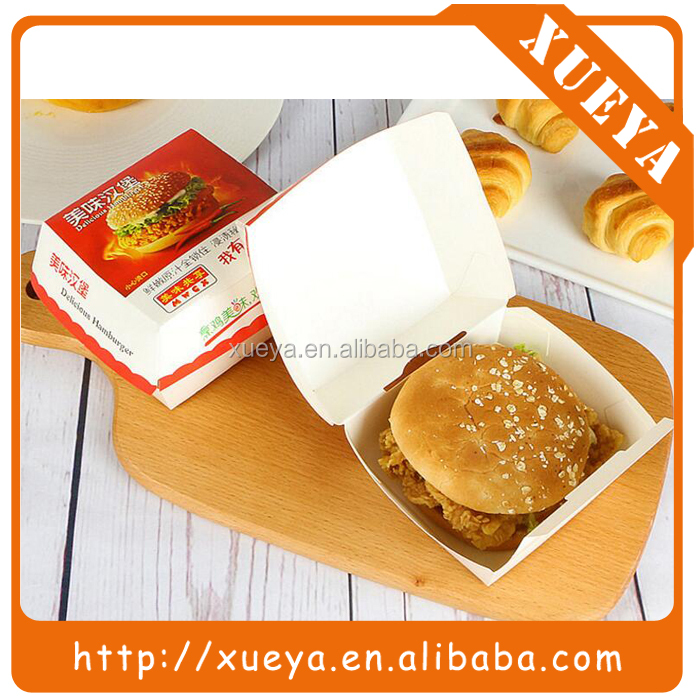 Customized fast food grade paper hamburger box