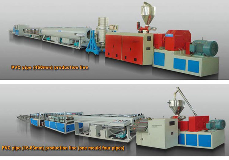 ISO9001 และ SGS UPVC PVC พลาสติกท่อการผลิตสายการผลิต