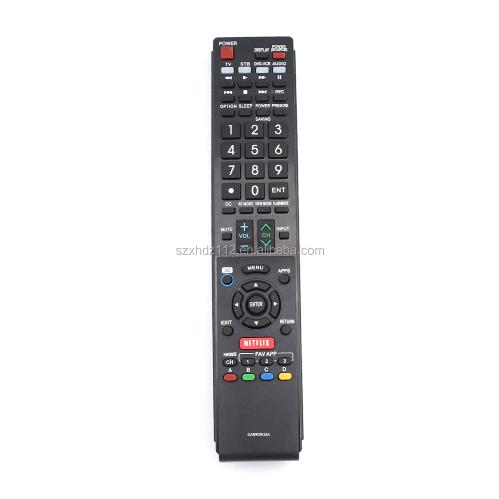 New GA890WJSA Remote Control fit for Sharp Aquos TV with Netflix app button