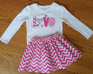 Valentine's Day girl outfit pink boutique wear