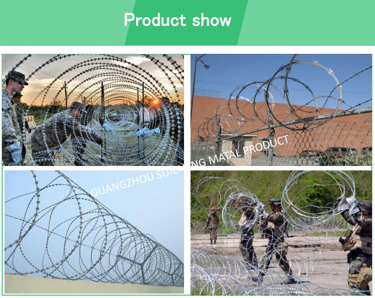 China Cheap Galvanized Bto22 Anti Climb Razor Barbed Wire