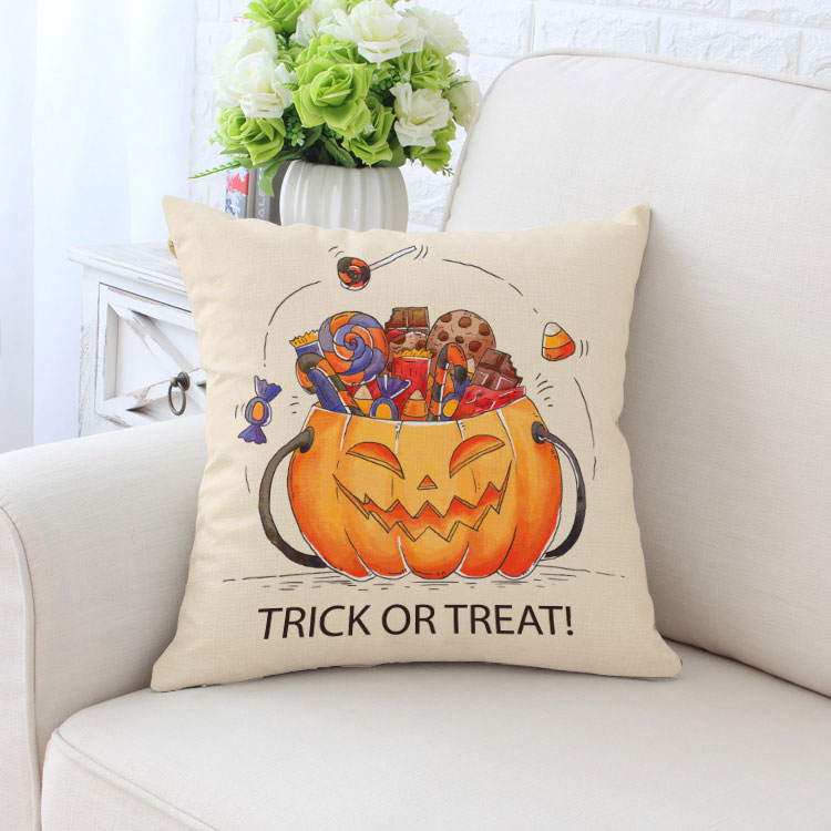en gros vente chaude canap d coration housse de coussin 45x45 cm halloween num rique imprim. Black Bedroom Furniture Sets. Home Design Ideas