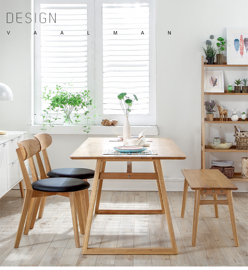 Modern Apperance Wooden Dining Table Breakfast Table