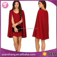 advanced apparel dresses custom red cape dresses for wholesale