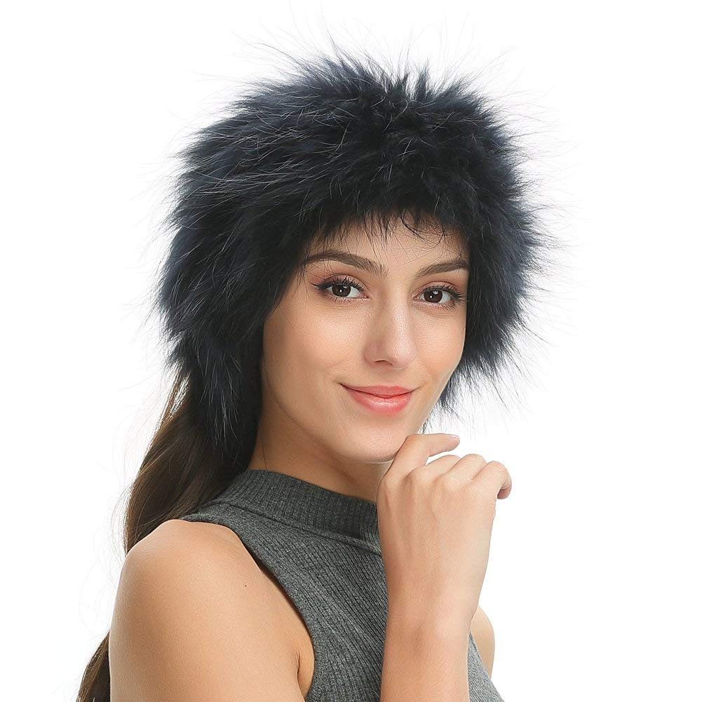 f034ea177c9 Ferand Women s Soft Warm Real Raccoon Fur Headband