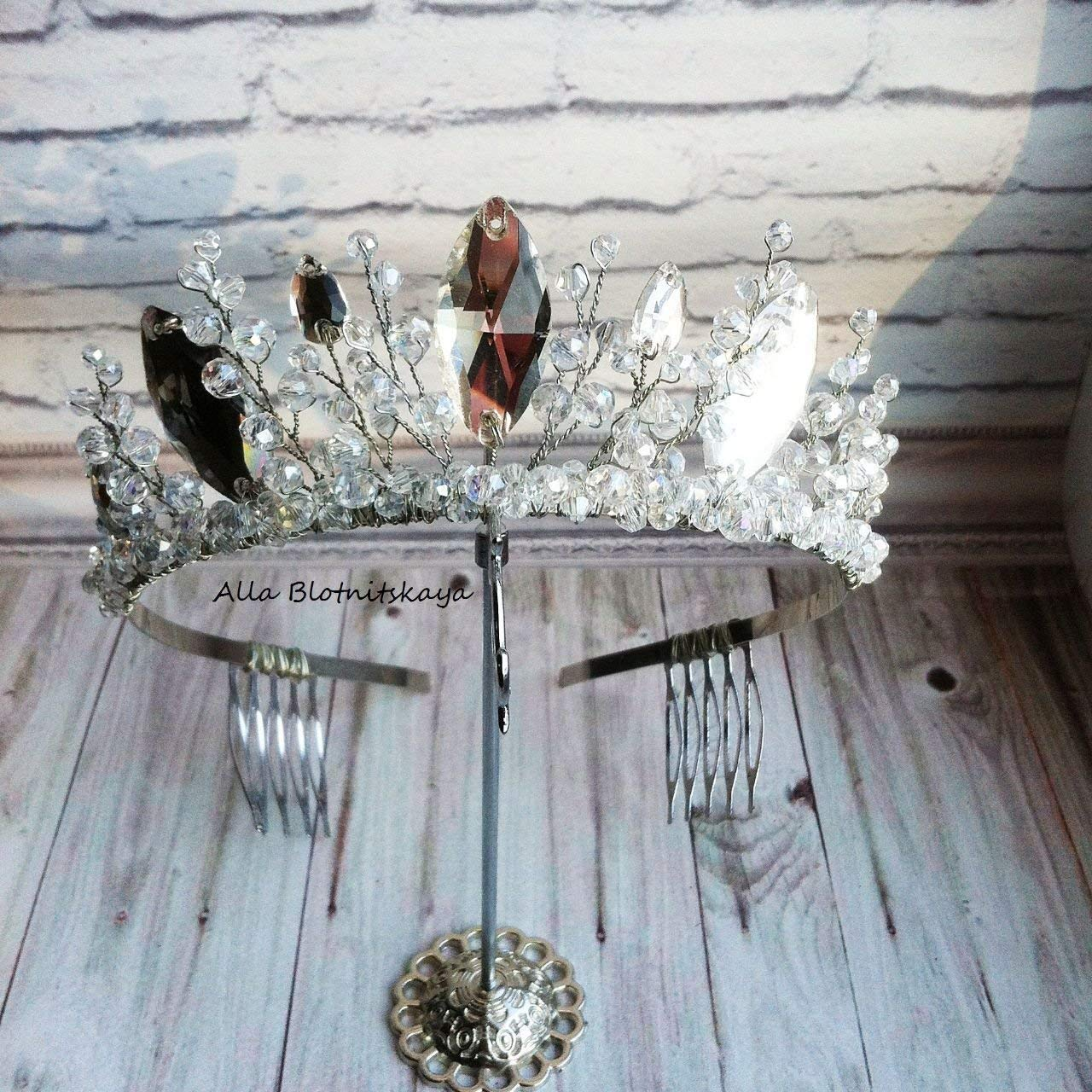 Silver Rhinestone Wedding Tiara,Princess Tiara, wedding, graduation, Royal Bridal Crown, Silver Princess Crown, Silver Bridal Tiara, Silver Tiara