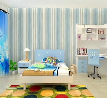 Streifen Design Bunte Non Woven Blau Grün Wall Paper Rolls Kinder ...