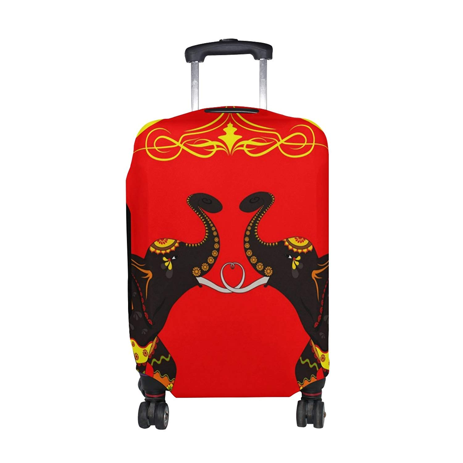FOLPPLY Vintage Retro Peacock Luggage Cover Baggage Suitcase Travel Protector Fit for 18-32 Inch