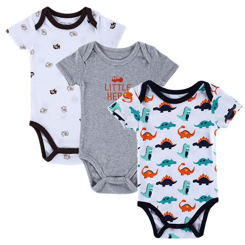 bb5e308f9 BABY BODYSUITS 3PCS 100%Cotton Infant Body Bebes Short Sleeve ...