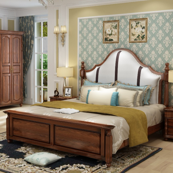 Modern Design Solid Wood Bedroom