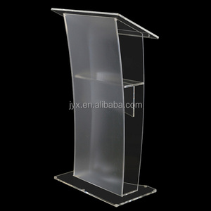 Modern design clear acrylic podium pulpit lectern with cheap price and high quality