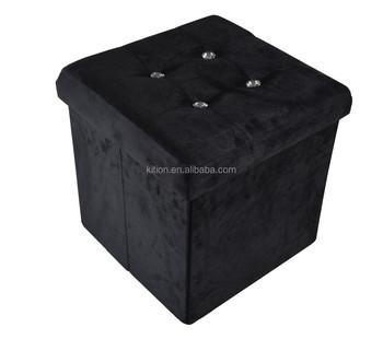Storage Ottoman,folding Storage Bench With Seat Cushion
