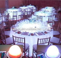 2018 Fashion plastic led light base table decorations centerpieces wedding