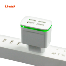 2020 New USA EU LED Light Wallปลั๊กพอร์ตAC DC Universal Power Adapter,travel Adapter 4 USB