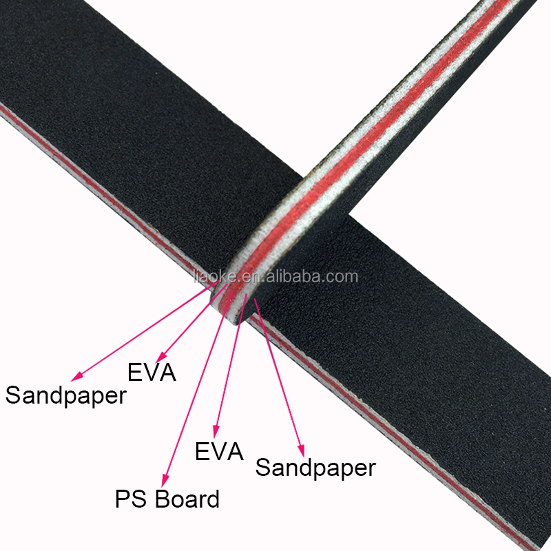 High Quality Custom Nail File Double Sided Sandpaper Diamond Nail File