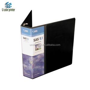 custom clearview vinyl binders with wraparound overlay