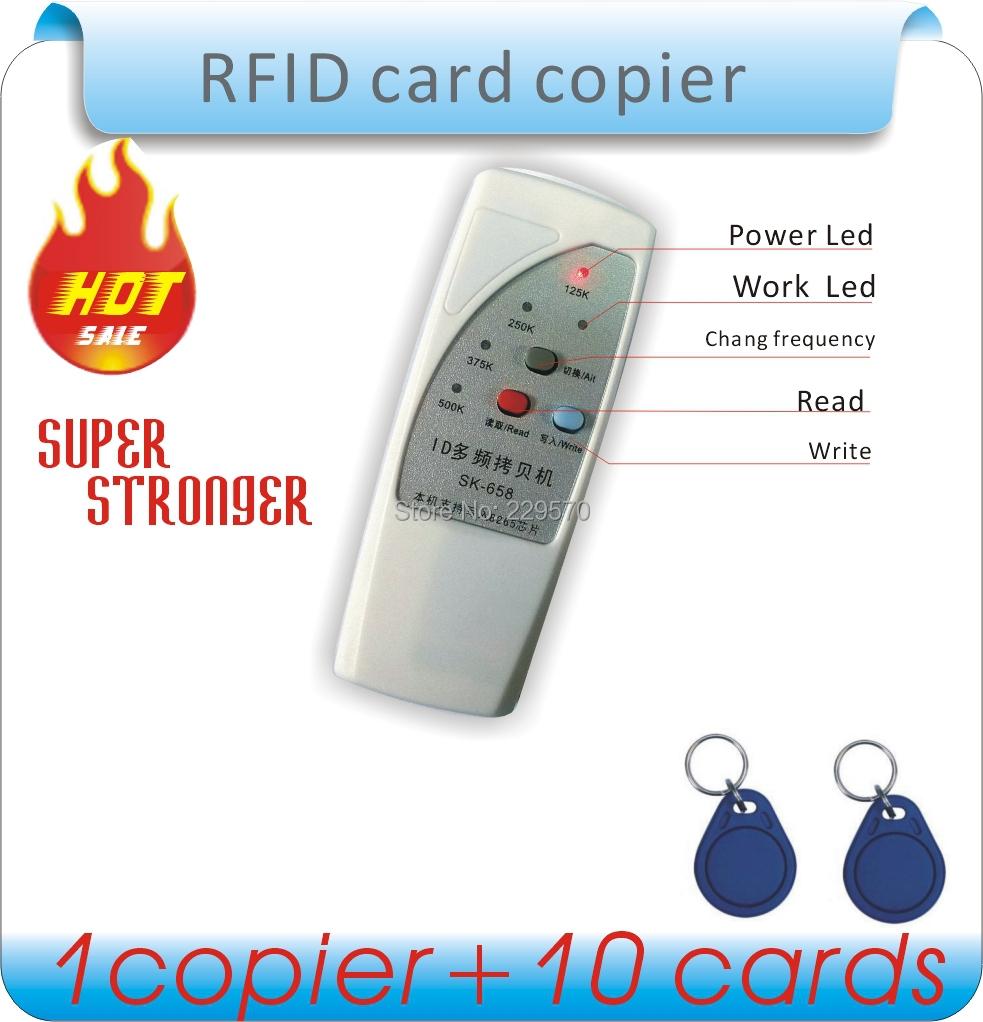 4 частота радиочастотная идентификация копировальная машина / дубликаторы / копирования ID е . м . и писатель + 10 шт. EM4305 записи брелок