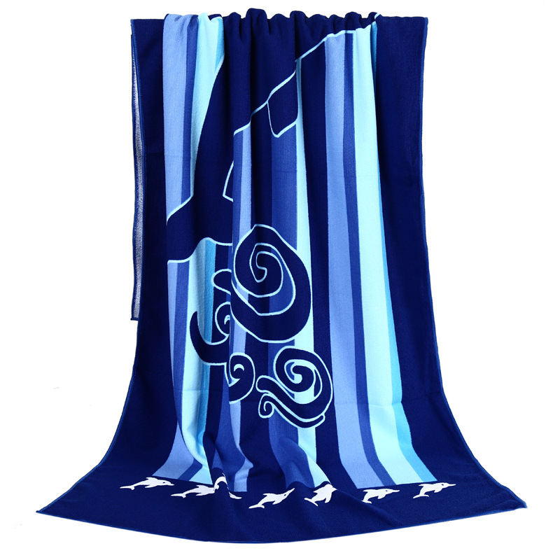 velour reactive printing beach towel