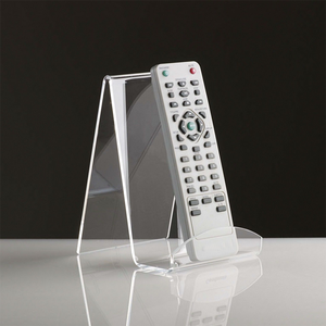 Desktop Custom Clear Remote Control Holder, Acrylic Phone Counter Stand