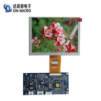 new design tft lcd 640x480 5 inch lcd with CVBS and VGA driver board