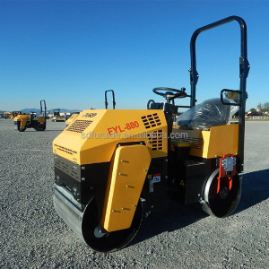 Factory Supply 1 ton Small Vibratory Tandem Roller (FYL-880)