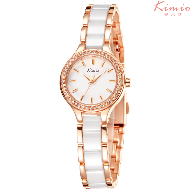 KIMIO 6121 women watches dress quartz watch Elegant bracelet ladies wristwatches 2017 <strong>hot</strong> girl's gift clock Gold Charming Chain