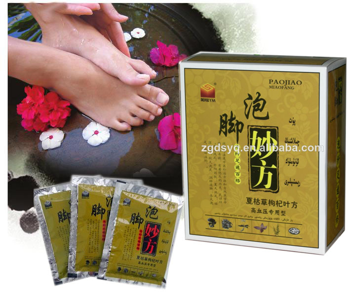 High quality foot bath powder using Chinese troditional herbs Specialized for Hypertension