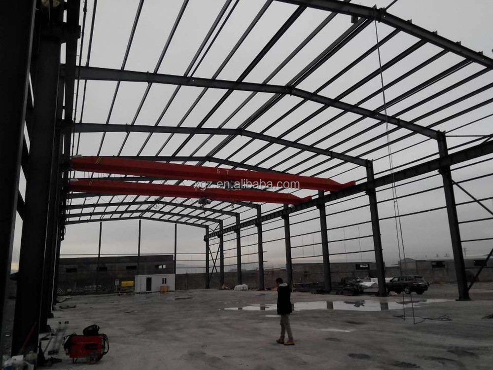 Low-price Professional Steel Structure Workshop with Bridge Crane Manufacturer