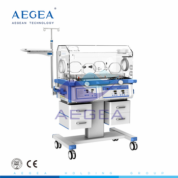 AG-IIR002B Top grade height adjustable portable baby incubator with x-ray cassette tray