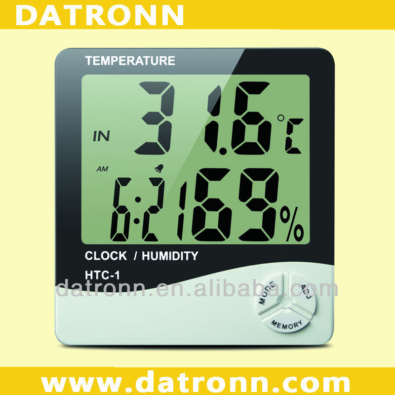 HTC-1 digital garden clocks and thermometers