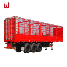 40-80T Fuwa 3 Axle fence semi trailer High Bed Cage Van Enclosed Cargo Horse