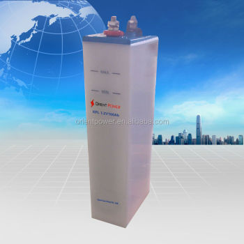 350Ah solar nickel ion battery standard 20 years Life 11000 cycle Nickel Iron Battery for sale