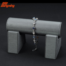 Custom 나무 링 earring necklace 쇼 <span class=keywords><strong>디스플레이</strong></span> 바스트