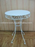 antique round furniture White Iron Table for decoration / dinning