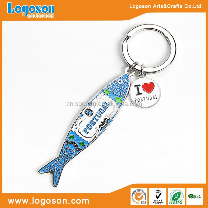Manufacture metal loverly fish key holder souvenir keyholder