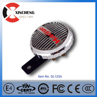 65mm motorcycle moped scooter horn 2pc red super loud grille mount compact XINCHENG HORN