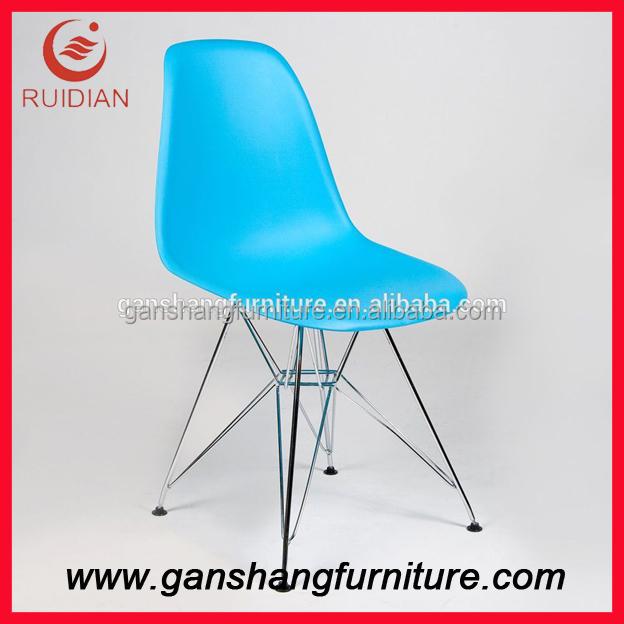 Moderna silla de pl stico silla r plica muebles para el for Sillas para el hogar